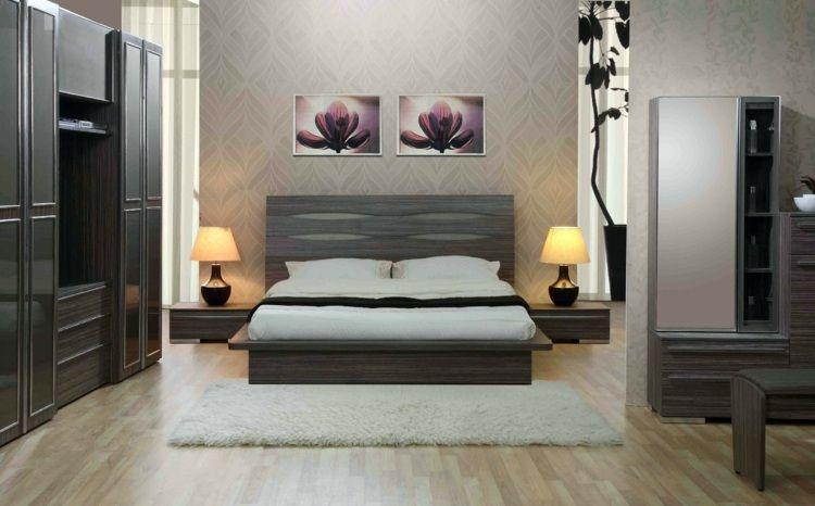 Lit podium pour une chambre à coucher moderne