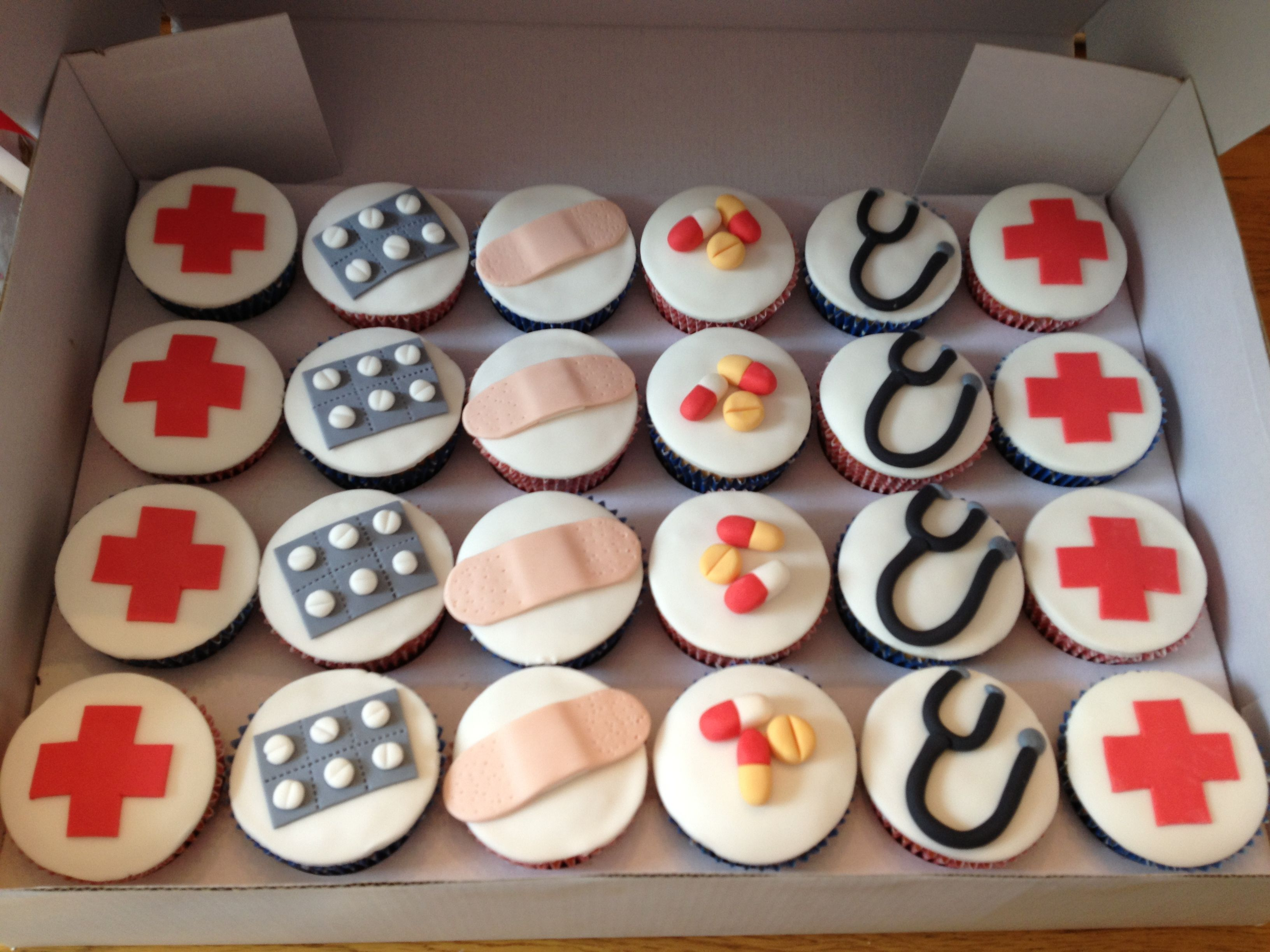 Hospital Themed Cupcakes As A Thank You To Staff On A Ward