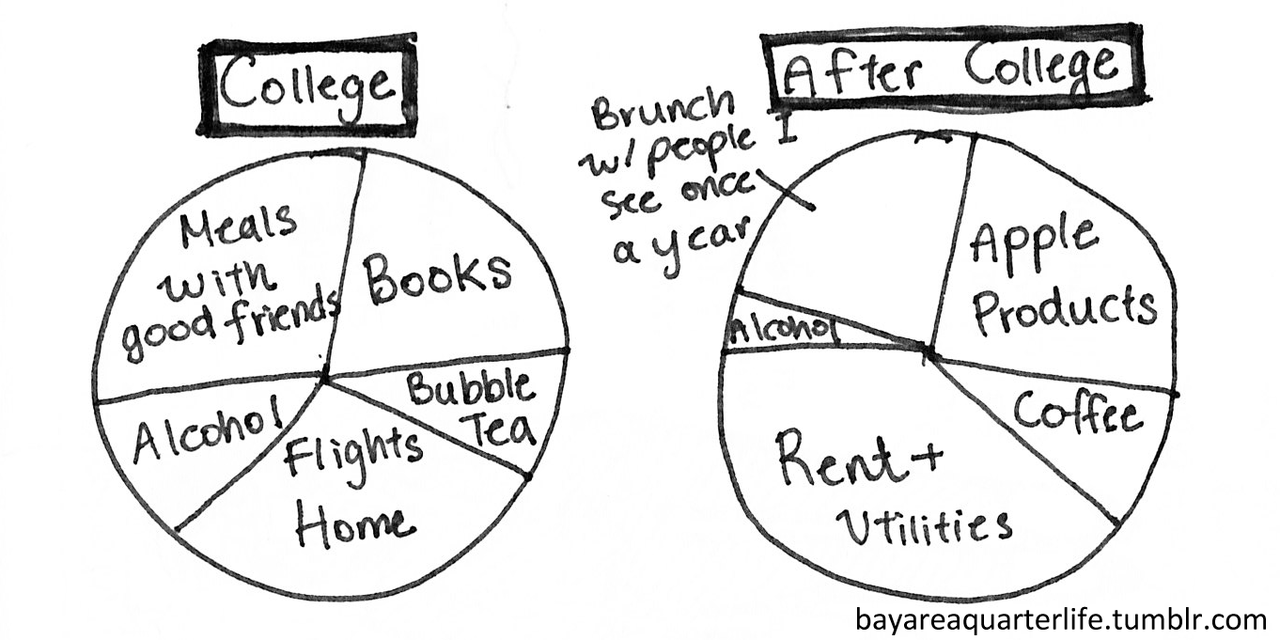 How my budget evolved after college.