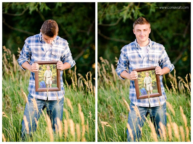 Great idea for senior picture have them hold a picture