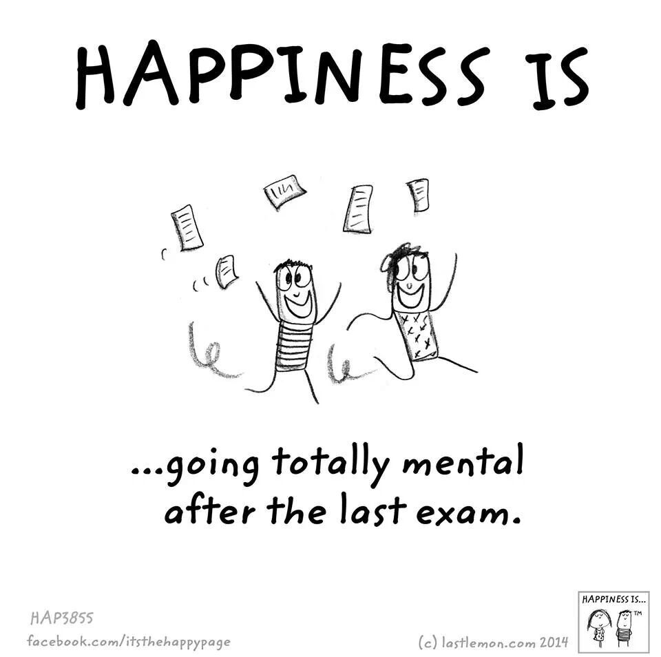 Happiness Is Exam Quotes Funny Exams Funny Last Exam