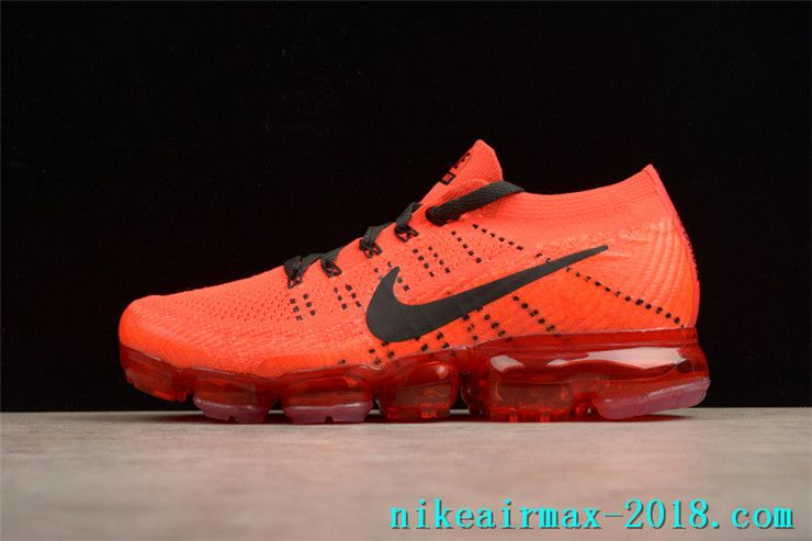 the latest 676df d0724 Nike Air VaporMax Flyknit 849558-992 Mens Sneakers Red Black