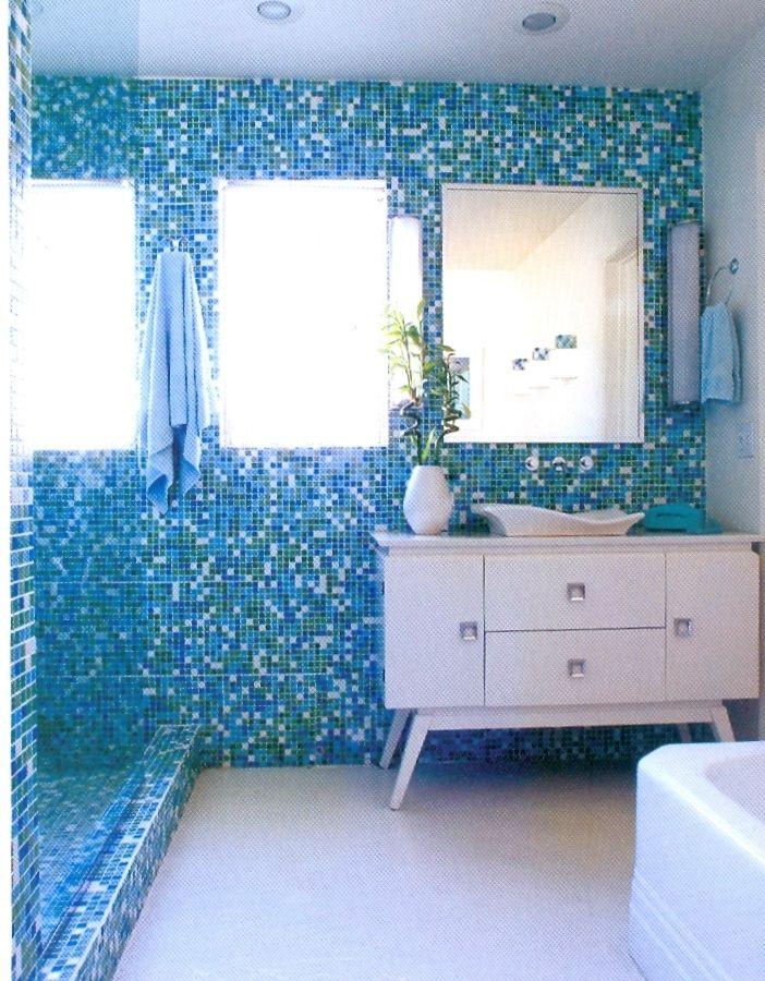 Bathtub Rock N Roll Problems Blue Bathroom Tile Dream Bathrooms Mid Century Modern Interior Design Bath trends bathroom blogfest post