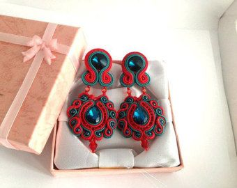 "Earrings Soutache "" Countess"""