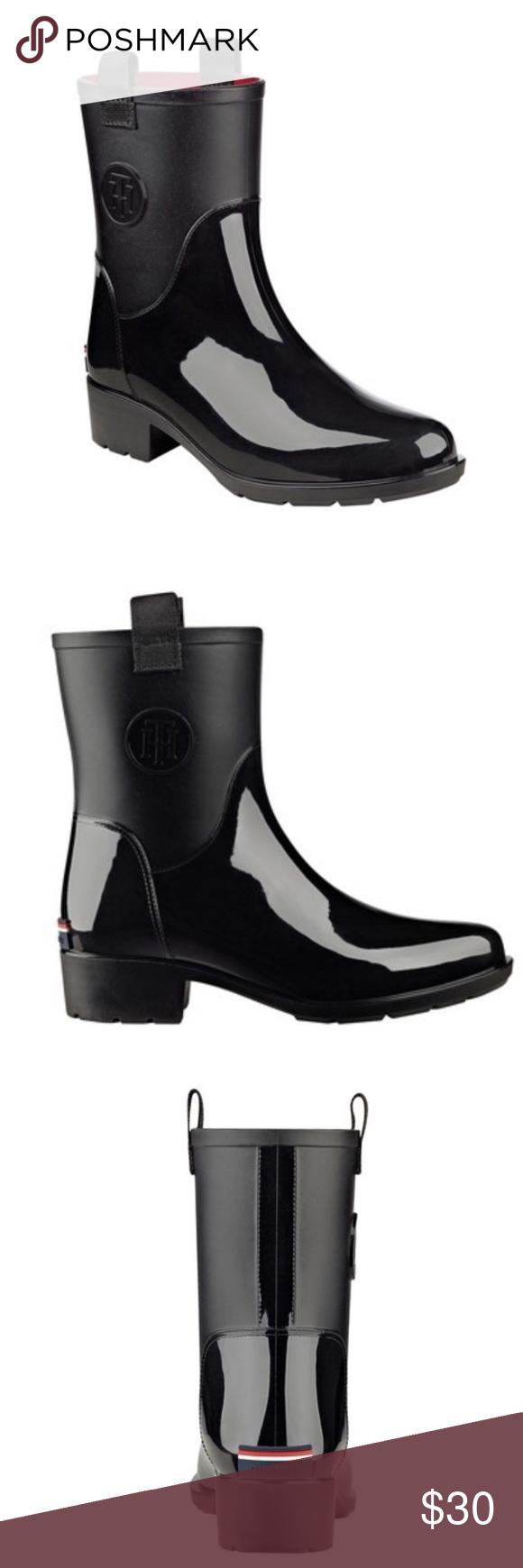 a1435916fb4 NWT! Tommy Hilfiger Khristie Rain Boots NWT! Tommy Hilfiger size 7 ...
