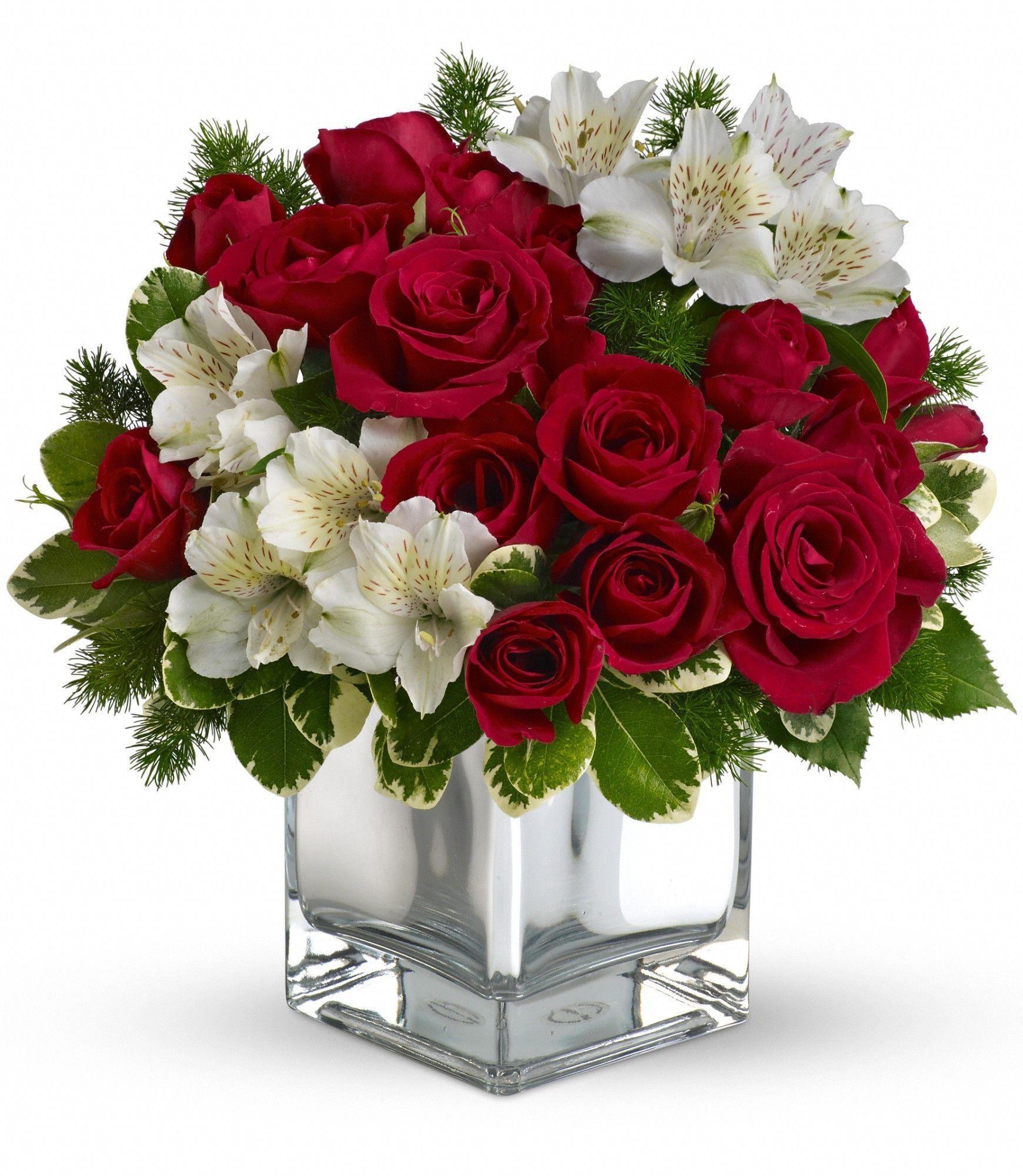Teleflora S Christmas Blush Bouquet Flower Christmas