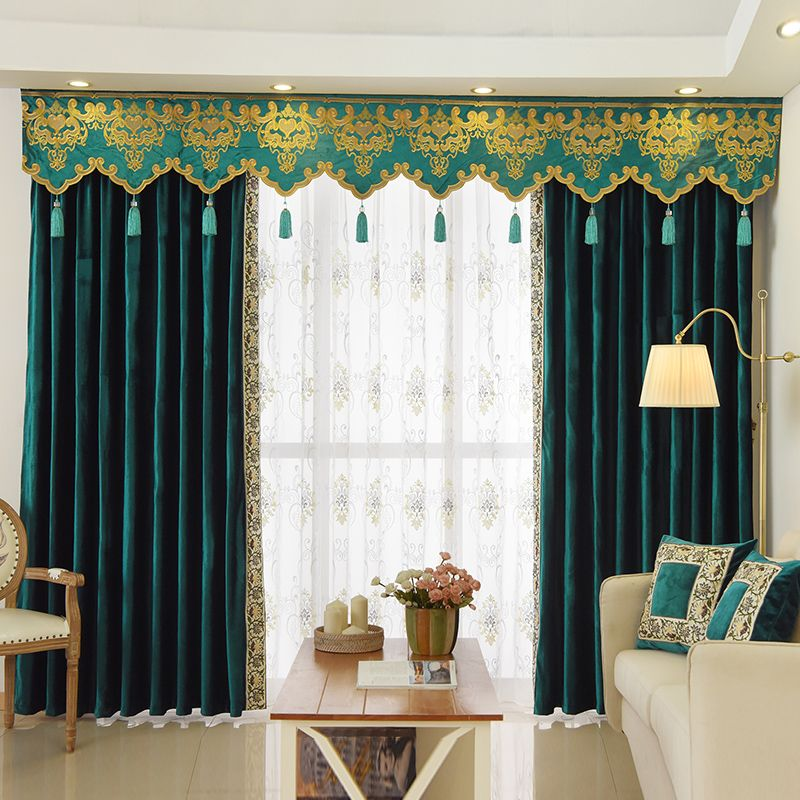 New Arrival Twynam Blue And Green Plain Waterfall And Swag