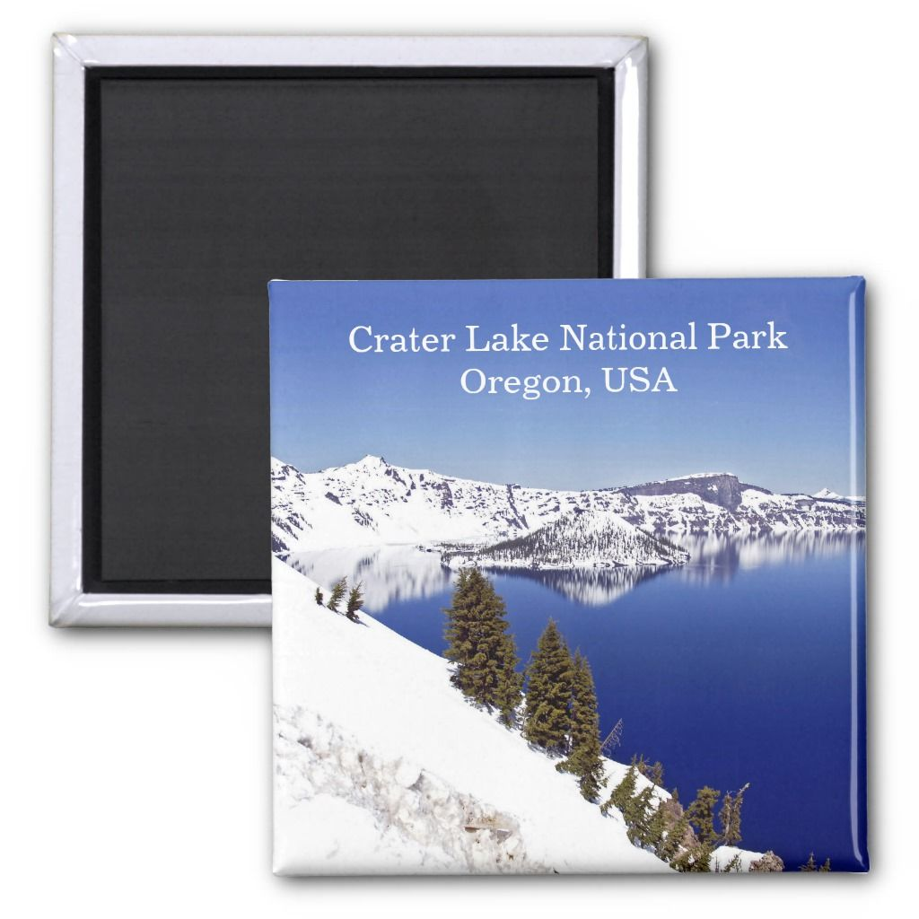 Crater Lake National Park Oregon USA Travel Magnet | Zazzle.com