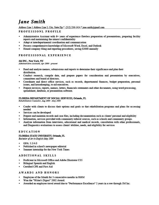 Resume Template Washington Black Resumes Pinterest Template - resume templates administrative assistant