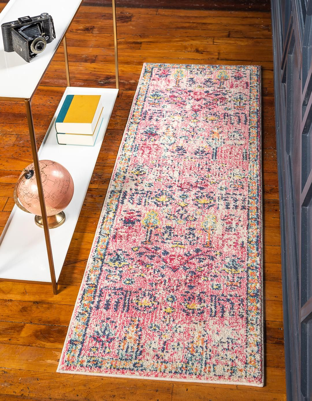 Pink 2 7 X 10 Alta Runner Rug Area Rugs Esalerugs Unique Loom Rug Runner Rugs