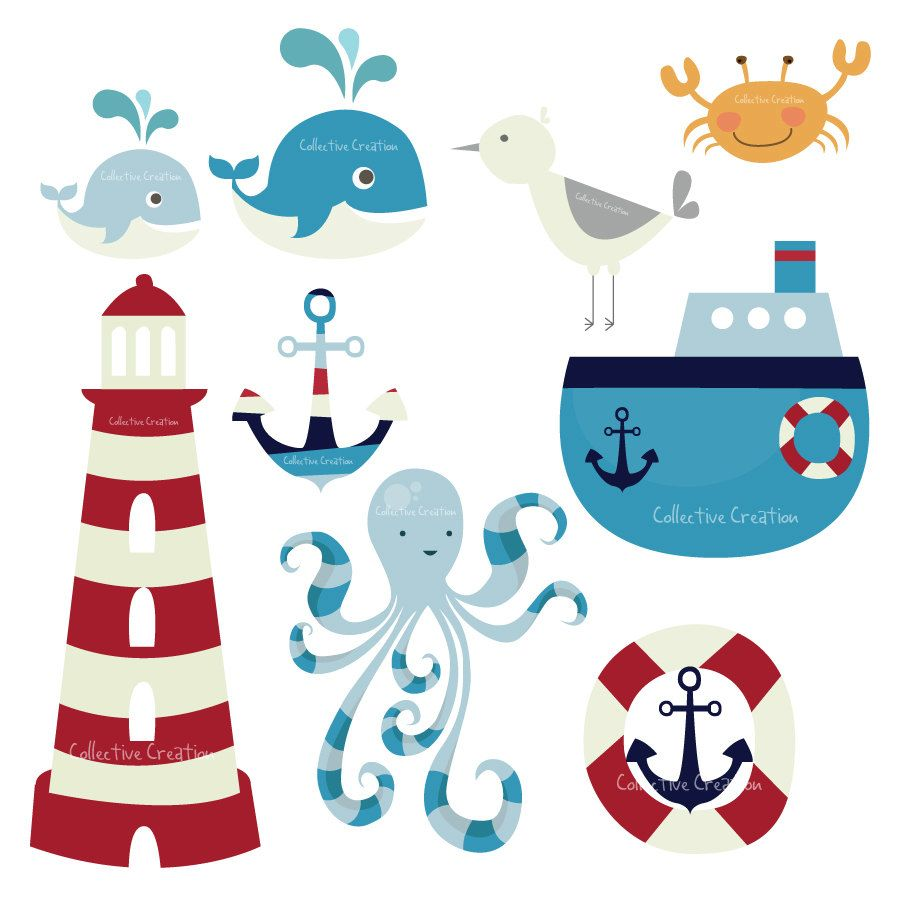 Popular Items For Sea Clipart On Etsy