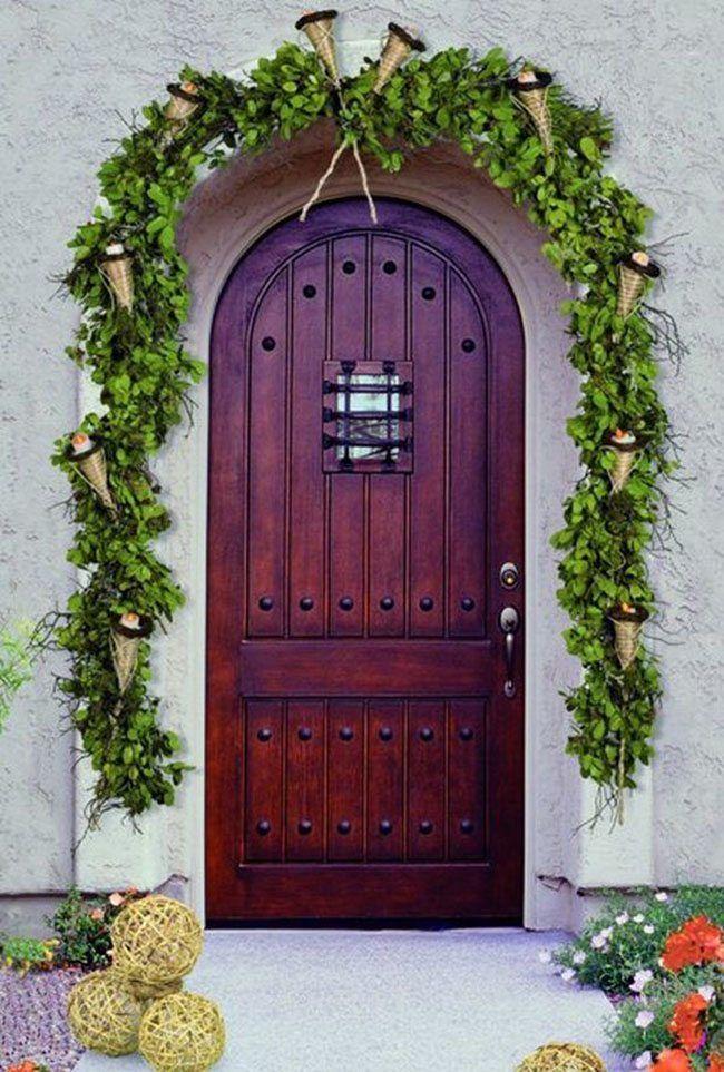 Decorar puertas de navidad verde beautiful life - Decorar puertas navidad ...