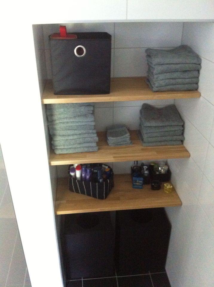 Mijn badkamer! Planken in nis | Badkamer | Pinterest - Badkamer ...