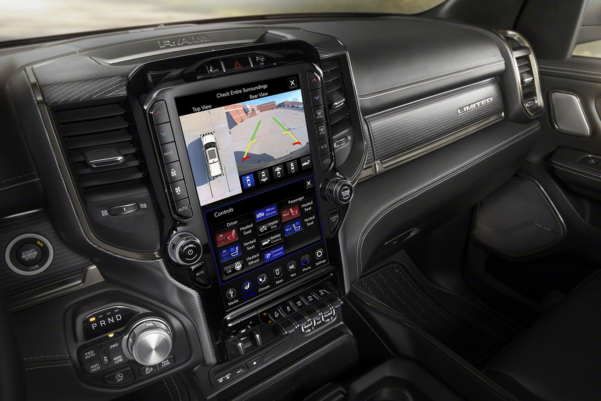 2019 Ram 1500 Infotainment Center Is A Portrait Oriented Bright And Sharp 12 Inch Display It Has A Brightness Of Dodge Ram 1500 Accessories Ram 1500 Dodge Ram
