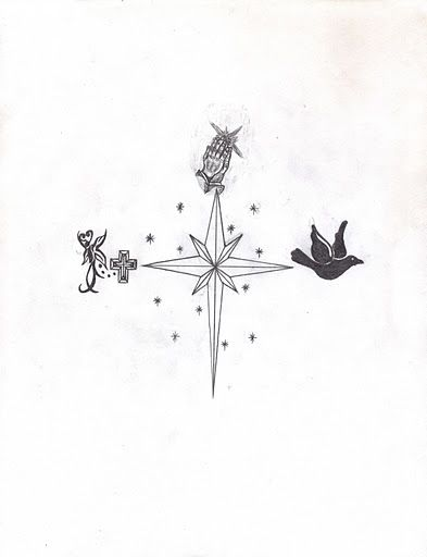 North Star Tattoo Design Idea Only The Large Star And The Smaller Stars Surrounding It Yildiz Dovmeleri Dovme Sanati Yildiz