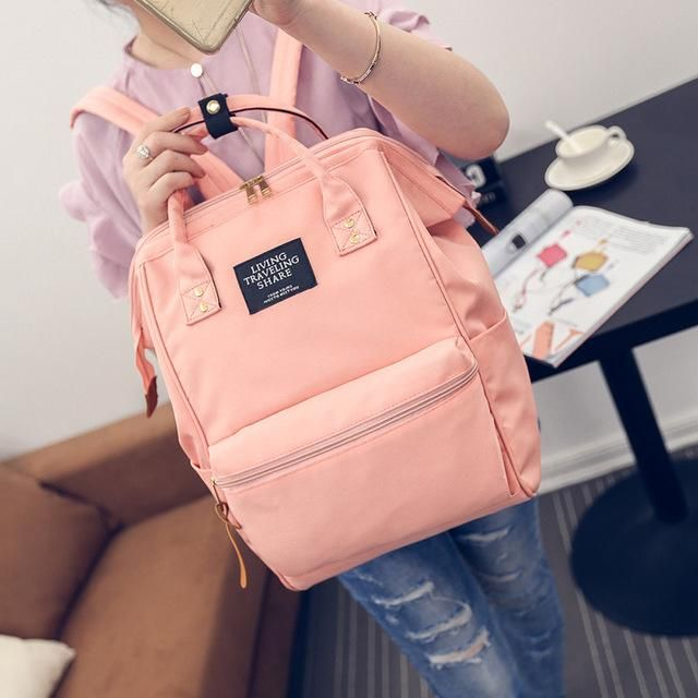 Fashion Women Backpacks Female high quality School Bag For Teenagers Girls  Travel Rucksack Big Space Backpack Mochila Infantil 03a0fa3c9d052