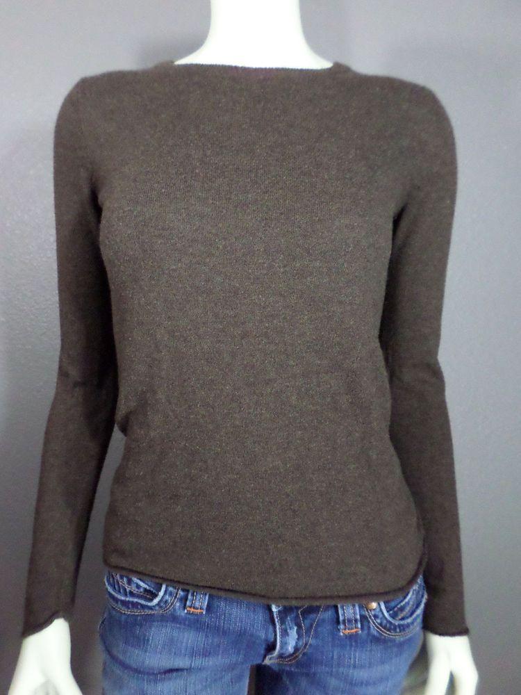 Mossimo Brown Crew Neck Ladies' Sweater - S #Mossimo #Crewneck