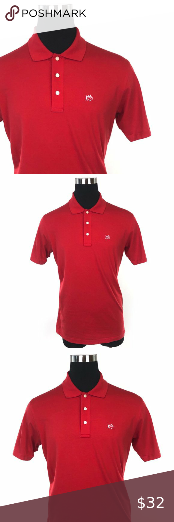 Southern Tide Sport Red Polo Shirt G14 In 2020 Red Polo Shirt Shirts Polo Shirt