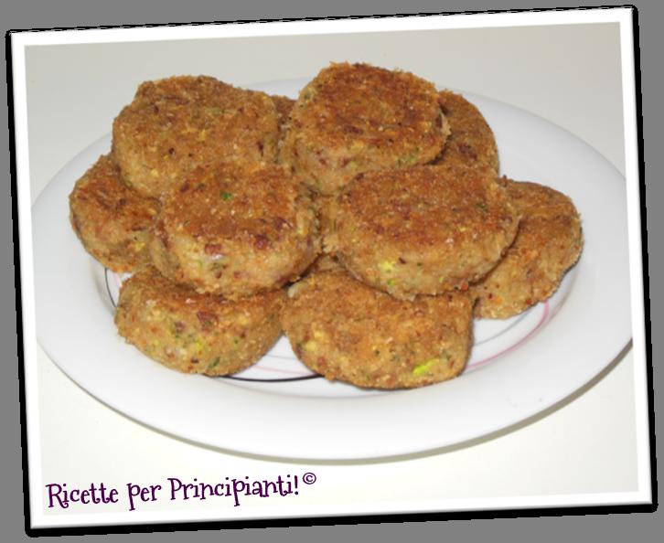 Ricette per Principianti: Polpette di fagioli borlotti e zucchine