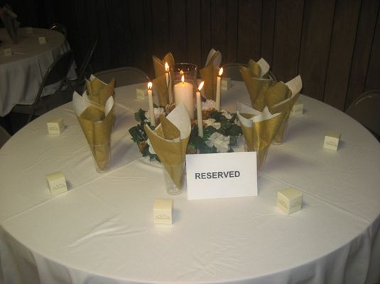 No tall candles but okay general idea 50th anniversary for Decoration 50th wedding anniversary
