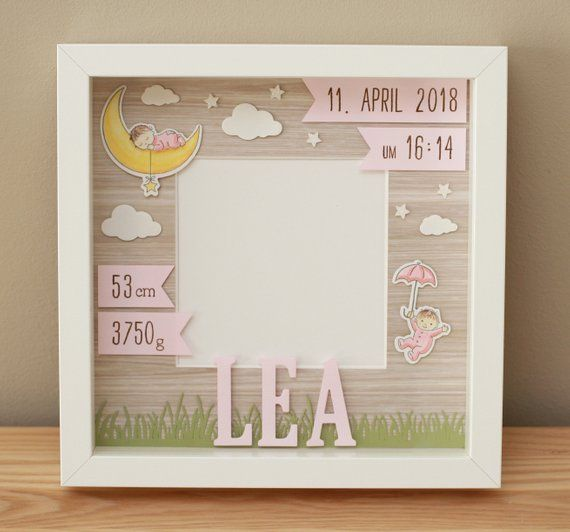 Personalized gift for birth in frame, baby frame, baptisbe gift, frame for birth #greatnames