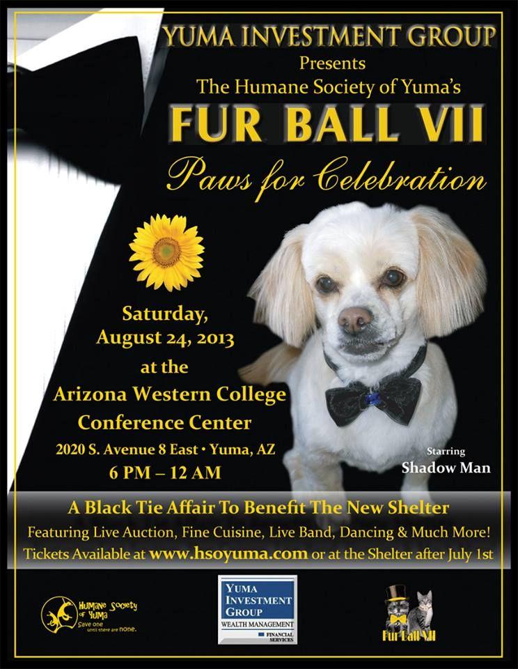 Humane Society Of Yuma Annual Fur Ball Fur Ball Humane Society