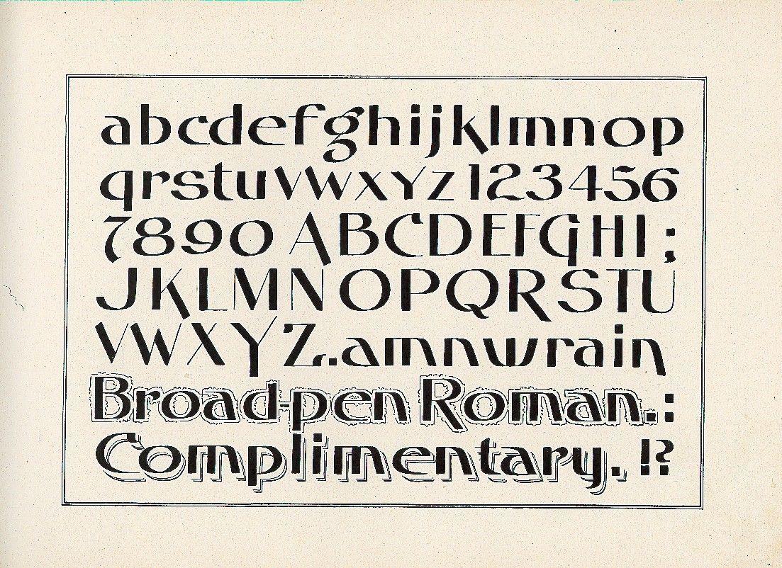 from The New Zanerian Alphabets