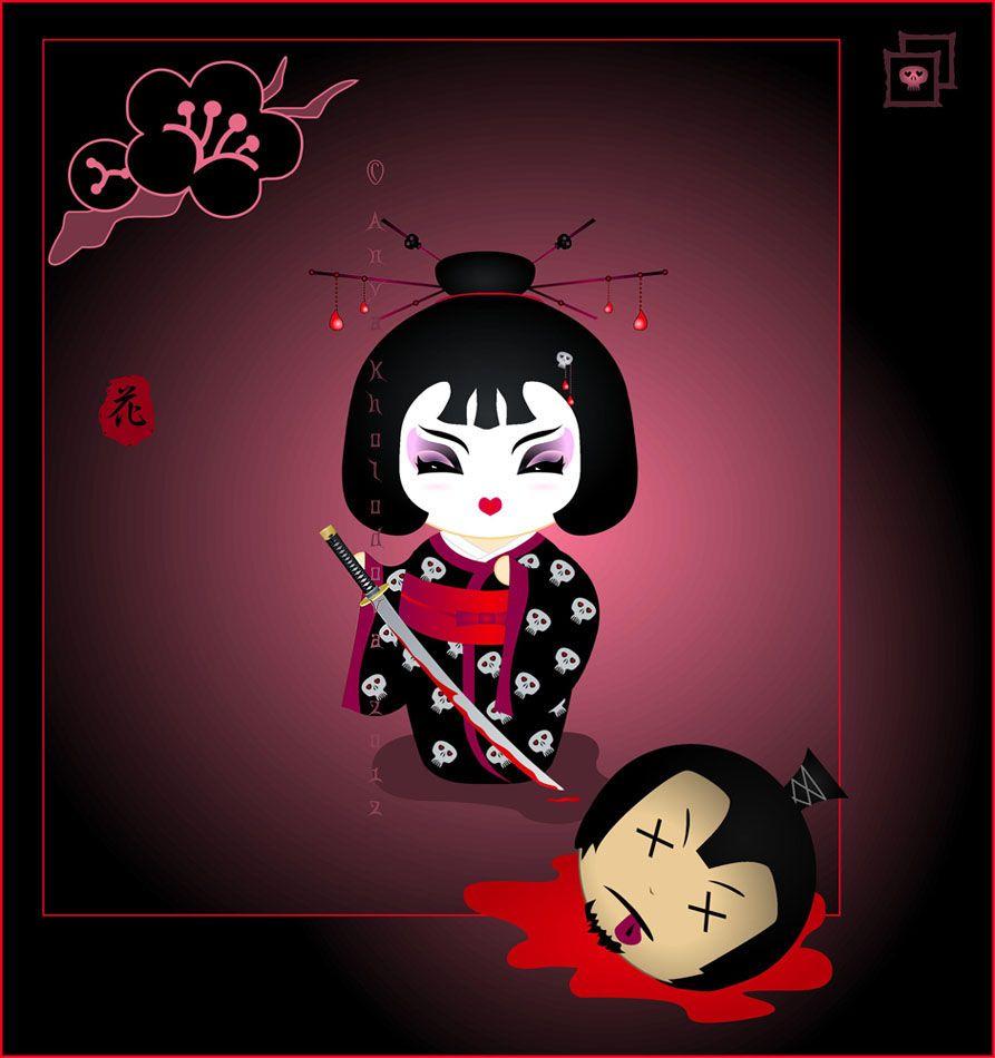 Deadly Beauty kokeshi by broom-rider.deviantart.com on @deviantART