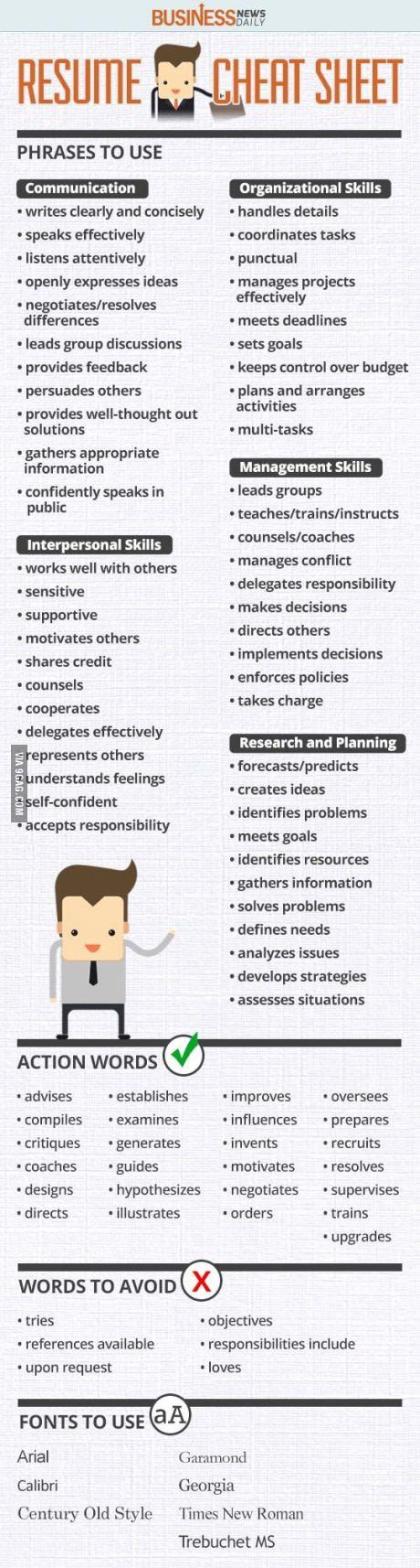 Tips for resume | Profesional, Vocabulario y Asas