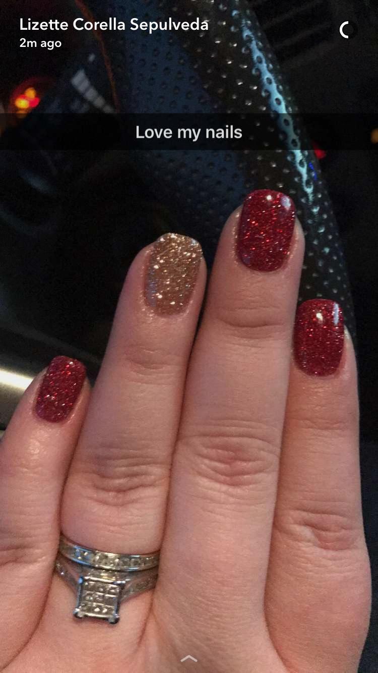 Dipping Powder Christmas Nails Sns Nails Designs Powder Nails Red Christmas Nails