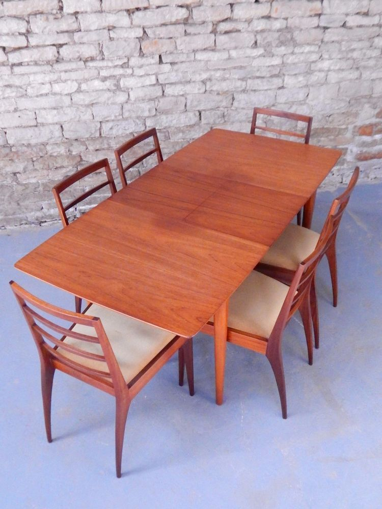 Mcintosh Dunvegan Extendable Teak Dining Table And 6 Chairs 50s 60s Mid Century