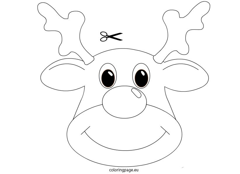 Christmas Craft Rudolph Mask Coloring Page Printable Christmas Coloring Pages Merry Christmas Coloring Pages Free Christmas Coloring Pages