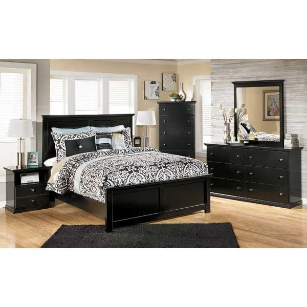 Maribel 5 Piece Bedroom Set Black Bedroom Furniture Set Ashley