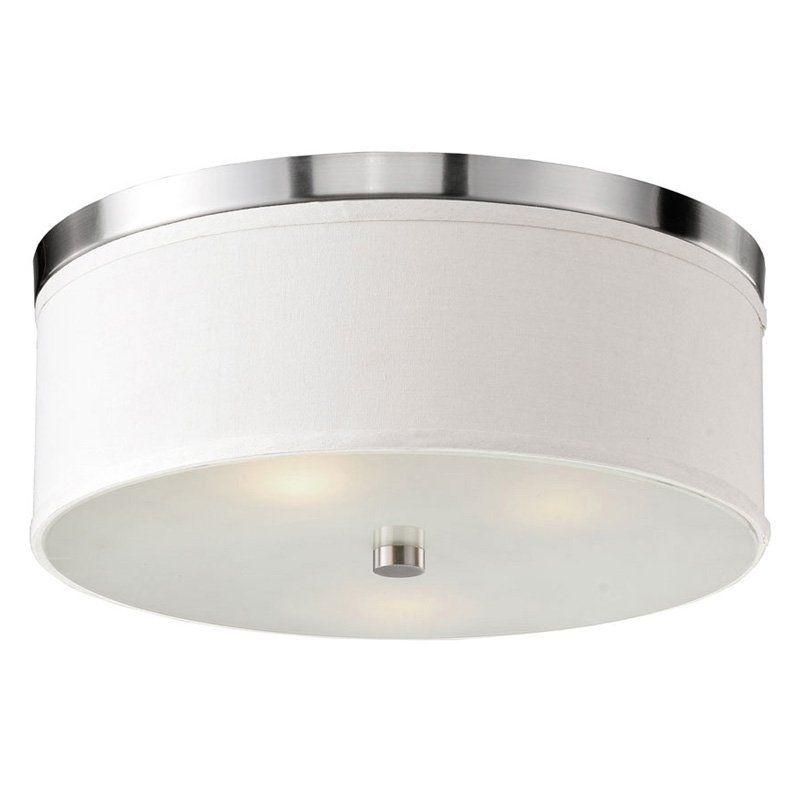 Bromi design b5301bn braxton white flush mount light www hayneedle com