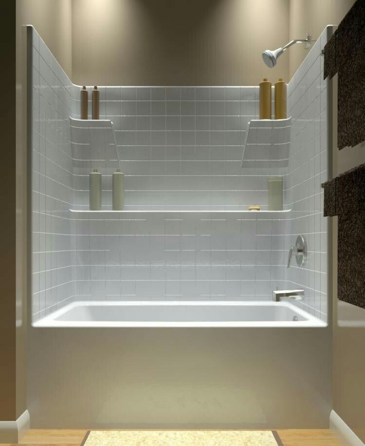 Badewanne Mit Gemauerten Ablagen Bathroom Tub Shower Combo Bathroom Tub Shower Tub Shower Combo Remodel