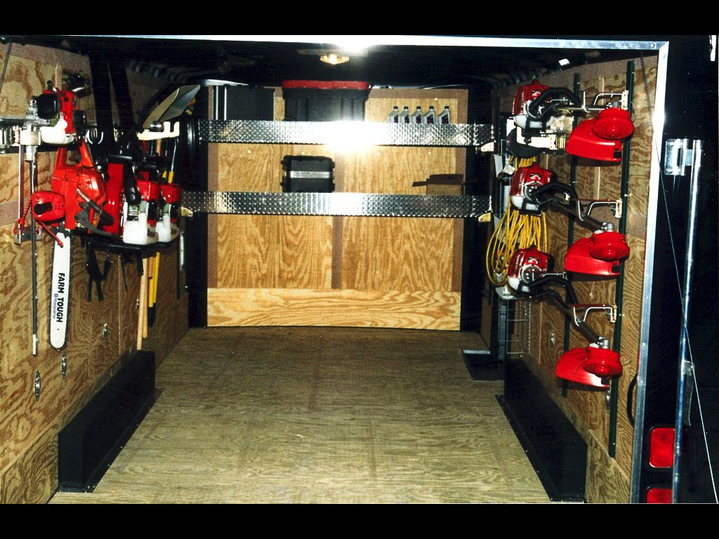 Enclosed trailer modifications google search outdoors for Garden maintenance trailer