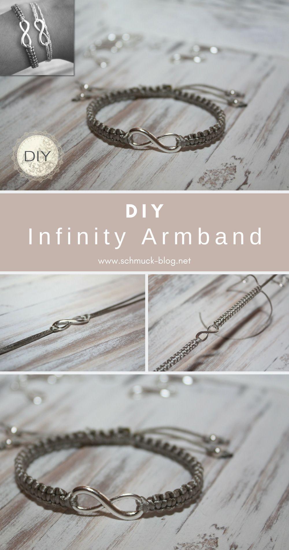 DIY Armband mit Unendlichkeitszeichen