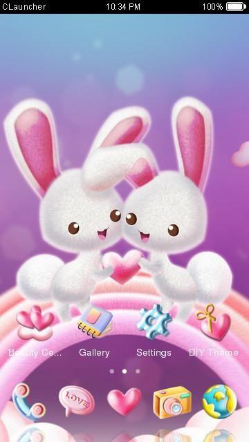 Love Rabbit Theme Kawaii Cute Bunny Comic