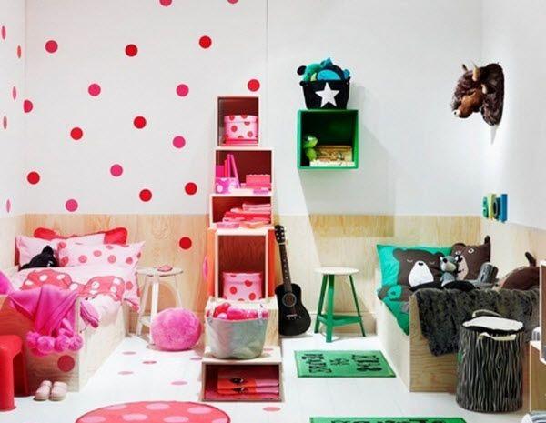Chambre Partagee Garcon Fille Enfants Mixtes, Chambre Fille, Idée Déco  Chambre, Chambres Partagées