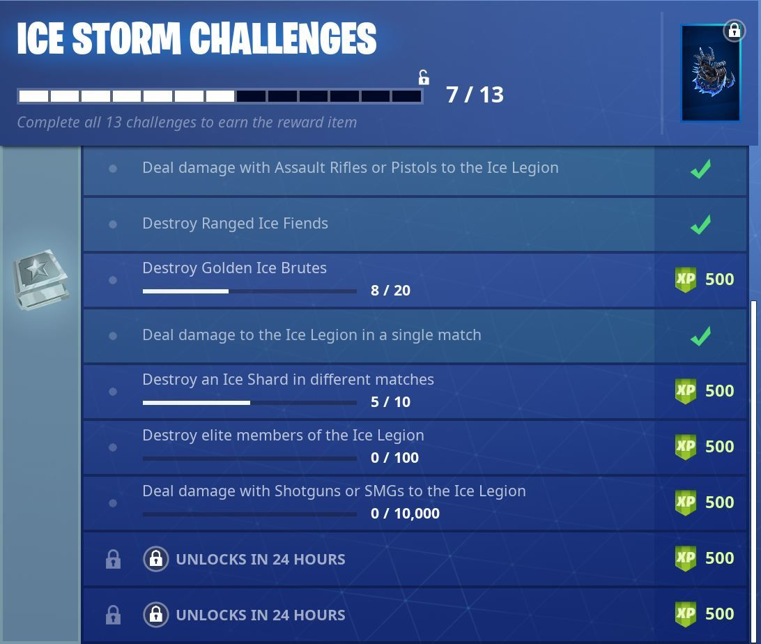 Fortnite Ice Storm Challenges Day Five Two More Ice Storm Challenges