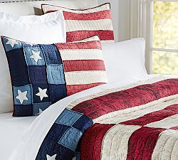Quilts Quilt Sets Amp Bed Quilts Pottery Barn Patriotic