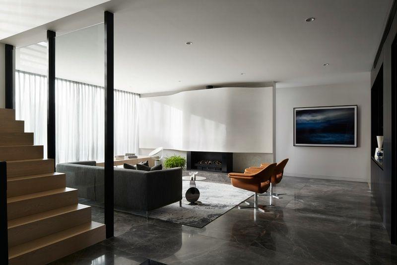 Bodenbelag Aus Marmor Und Holz In Einem Modernen Haus Bodenbelag
