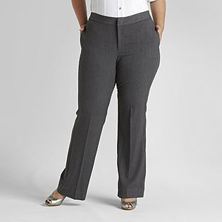 Beverly Drive  Women's Plus Glam Fit No Gap Dress Pants 21.00 at Sears.com
