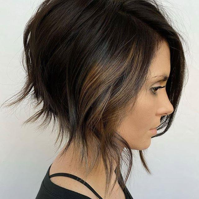 59 Schone Frisuren Mittellang Stufig Fransig In 2020 Short Hair Styles Hair Styles Short Bob Hairstyles