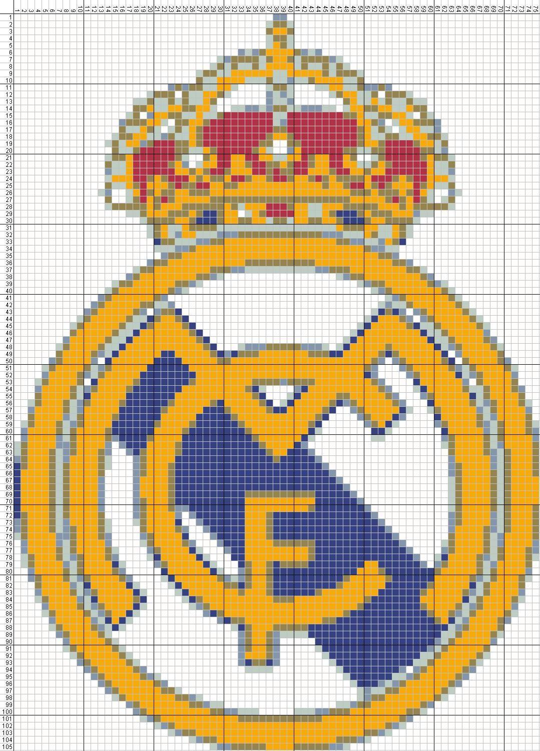 ESCUDO REAL MADRID ESQUEMA PARA PUNTO DE CRUZ