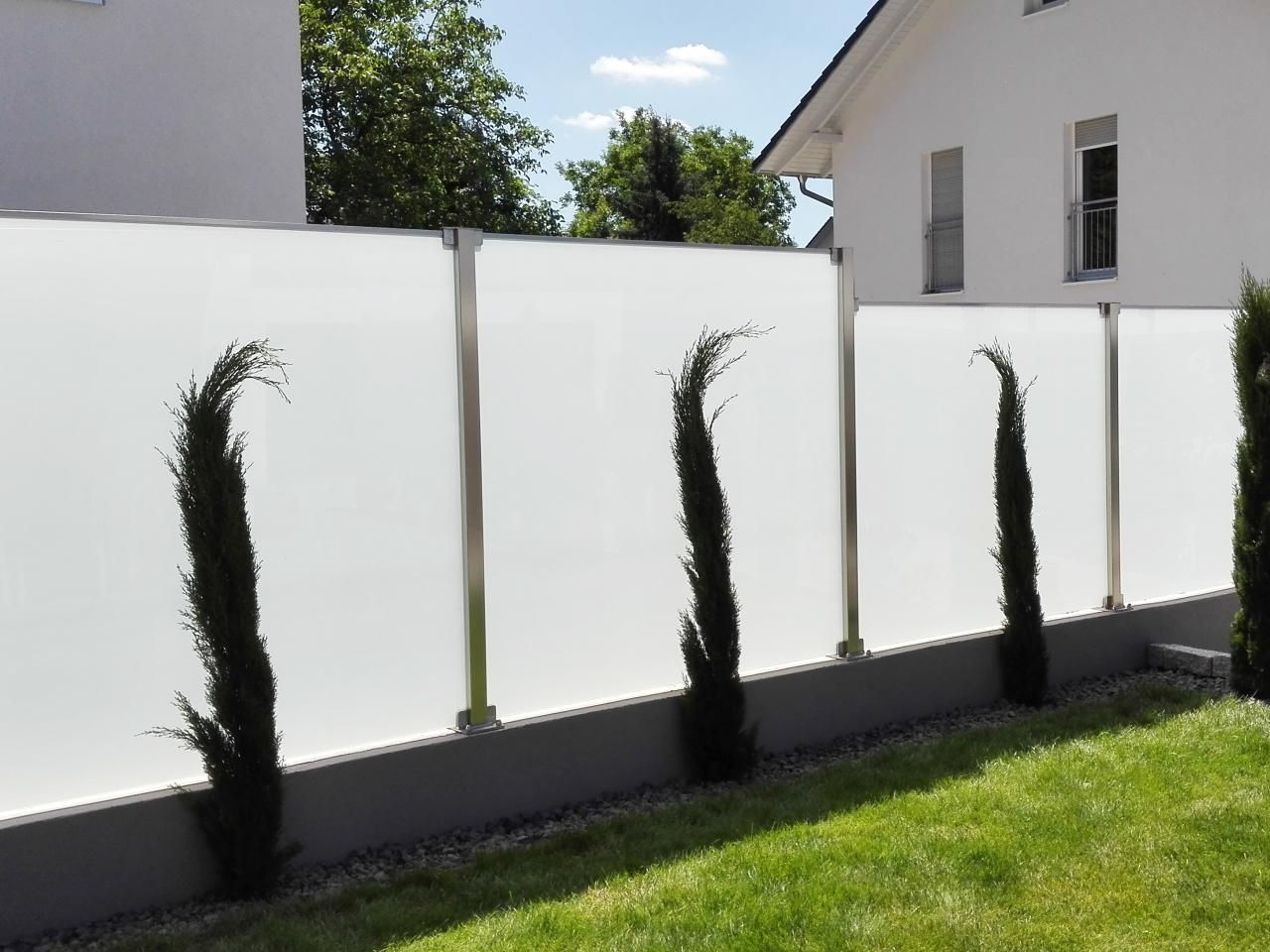 Glaszaun Fur Wind Und Sichtschutz Glasprofi24 Glaszaun