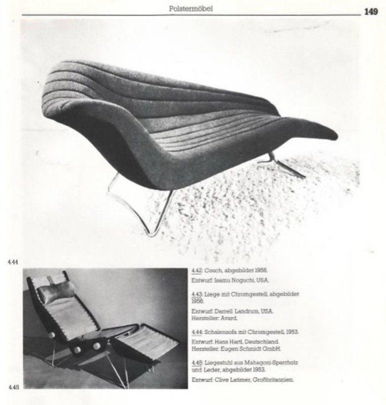 Rare Soloform 5008 Chaise Longue By Hans Hartl For Eugen Schmidt Germany 1953 Comfortable Chaise Chaise Chaise Longue