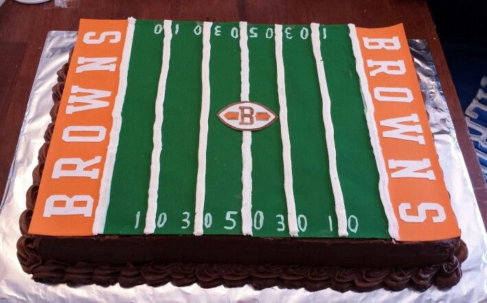Cleveland Browns Birthday Cake Football Cake Special Cake