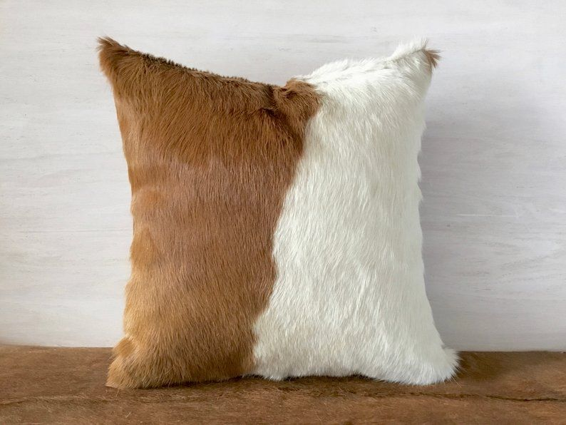 Soft Brazil Cowhide Pillow Cover Lumbar 16x16 Etsy Cowhide Pillow Cover Cowhide Pillows Pillows