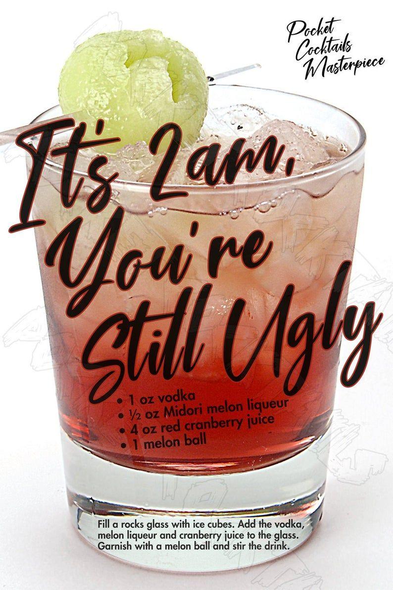 Classic Cocktails Print, Cocktails Poster, Cocktai